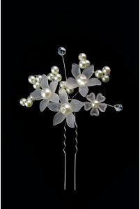Свадебная шпилька с цветами фото