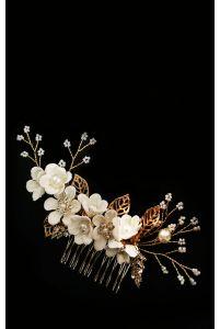 Гребень с цветами айвори фото