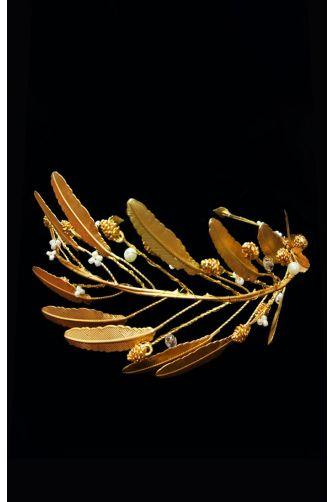 Ободок золотой с перьями в Киеве - Фото 1