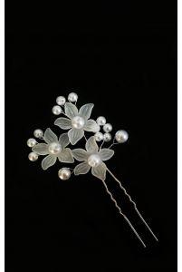 Шпилька цветочки с жемчугом фото