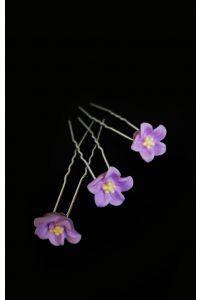 Шпилька в виде цветочка сиреневый фото