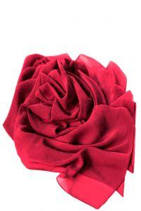 Шифоновая шаль красная фото