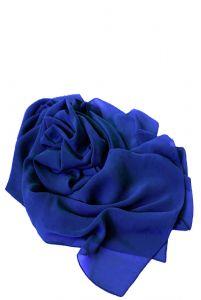 Шифоновая шаль синяя фото