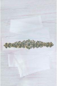 Свадебный пояс с камушками фото