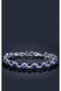 Тонкий браслет на руку синий фото
