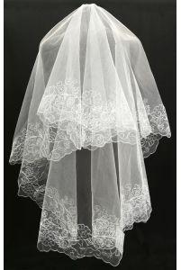 Фата свадебная с листиками фото