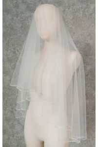 Свадебная фата с бисером фото