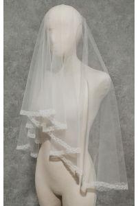 Свадебная фата с бисером и пайетками фото