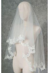 Свадебная фата с орнаментом фото