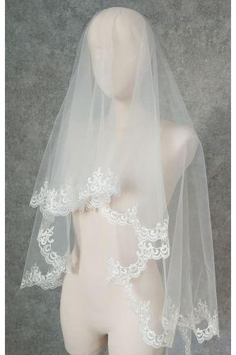 Свадебная фата с орнаментом в Киеве - Фото 1