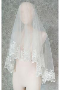 Свадебная фата с вышивкой фото