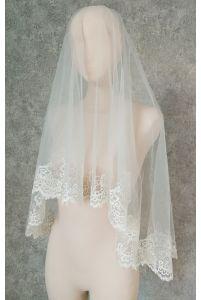 Свадебная фата с вышивкой цветы фото