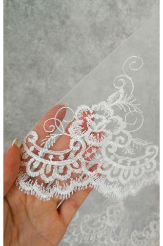 Свадебная фата с вышивкой цветы в Киеве - Фото 2