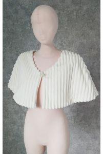 Свадебная накидка, полосатый мех фото