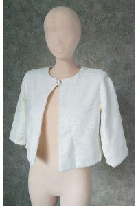 Свадебная шубка, цветочный мех фото