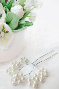 Свадебные шпильки с жемчугом фото
