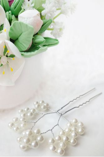 Свадебные шпильки с жемчугом в Киеве - Фото 1