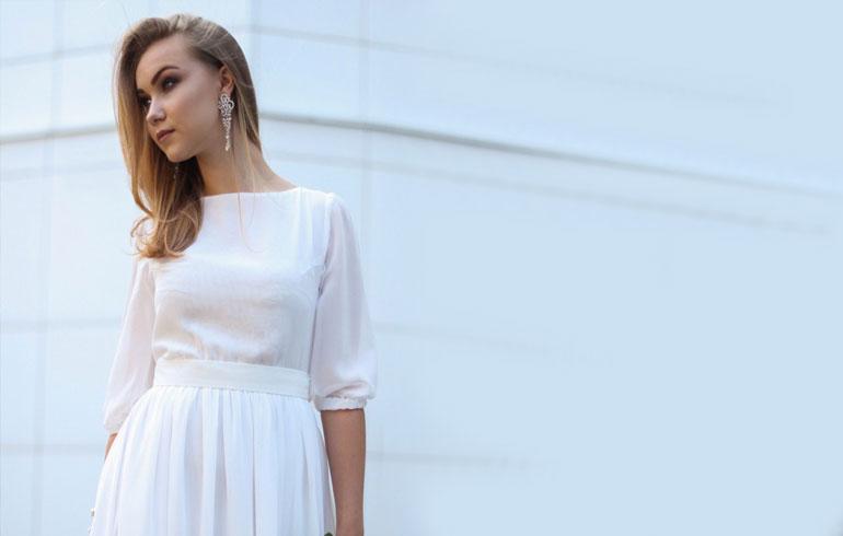 Платье в пол с рукавом для фотосессий
