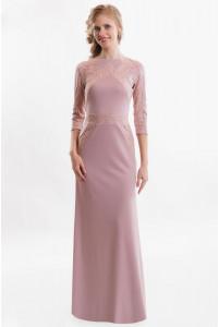 Повседневное платье в пол с рукавом фото
