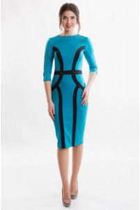Трикотажное платье на каждый день фото