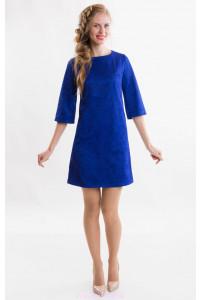 Яркое синее коктейльное платье фото
