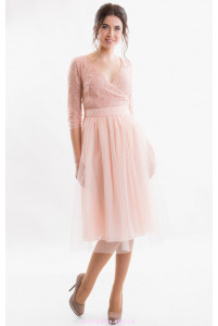 Коктейльное платье миди фото