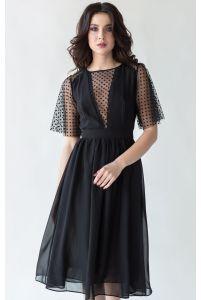 Коктейльное платье черное фото