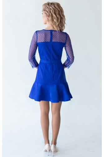 Короткое коктейльное платье синее в Киеве - Фото 3