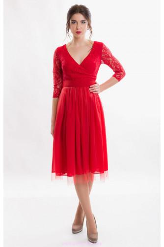 Красное коктейльное платье в Киеве - Фото 2
