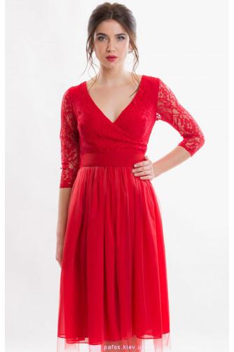 Красное коктейльное платье в Киеве - Фото 3