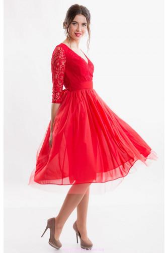 Красное коктейльное платье в Киеве - Фото 1