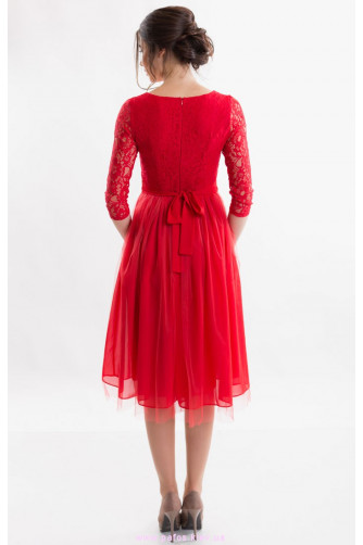 Красное коктейльное платье в Киеве - Фото 4