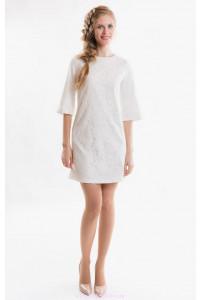 Молочное коктейльное платье фото