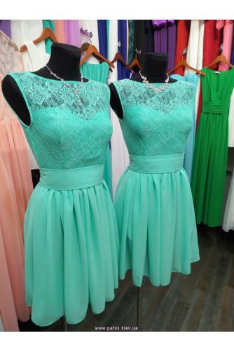 Мятное платье для дружки в Киеве - Фото 1