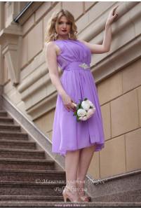 Сиреневое нарядное платье фото