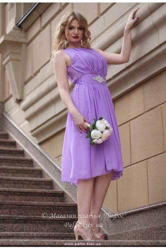 Сиреневое нарядное платье в Киеве - Фото 1