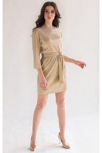 Стильное блестящее коктейльное платье фото