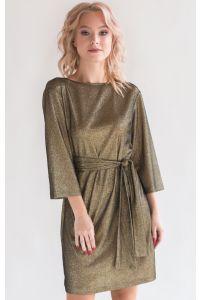 Стильное коктейльное платье блестящее фото