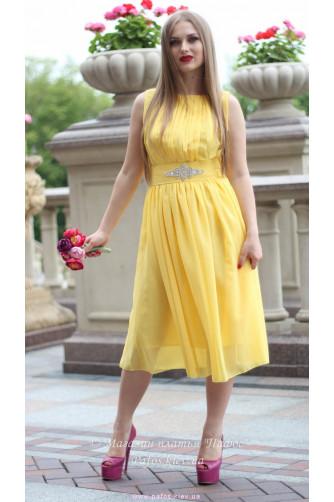 Желтое платье миди в Киеве - Фото 1