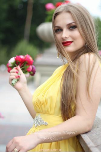 Желтое платье миди в Киеве - Фото 3