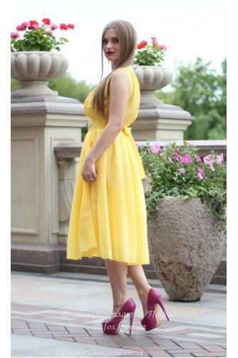 Желтое платье миди в Киеве - Фото 2