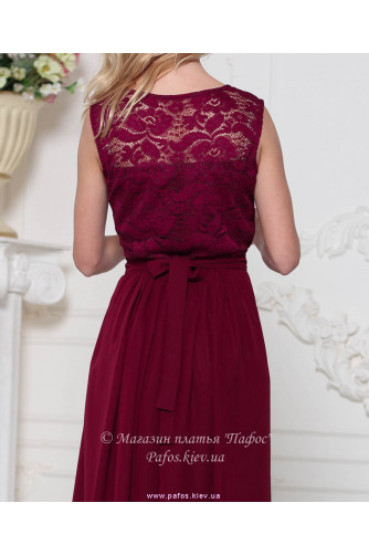 Модное платье марсала в Киеве - Фото 4