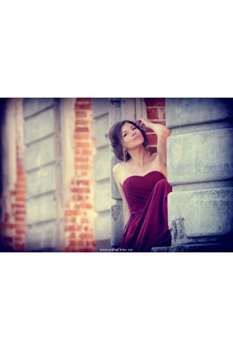 Корсетное платье марсала в Киеве - Фото 4