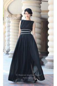 Черное длинное платье фото