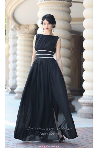 Черное длинное платье в Киеве - Фото 1