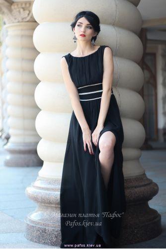 Черное длинное платье в Киеве - Фото 2