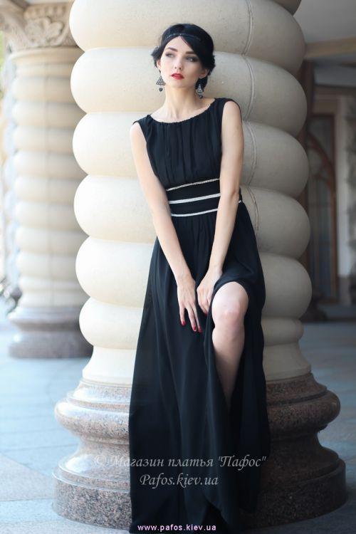 e68a442ba50 Черное платье в пол купить (Киев)