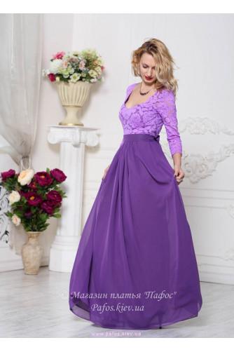 Фиолетовое платье с рукавом в Киеве - Фото 2