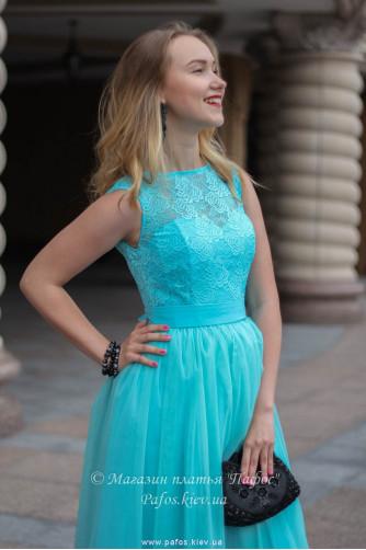 Голубое корсетное платье в Киеве - Фото 3