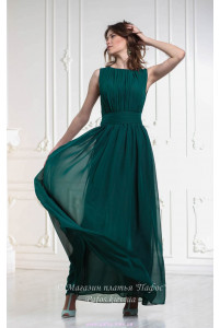 Изумрудное платье в пол фото